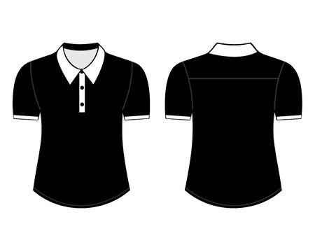 blank shirt with short sleeves template for men front and back