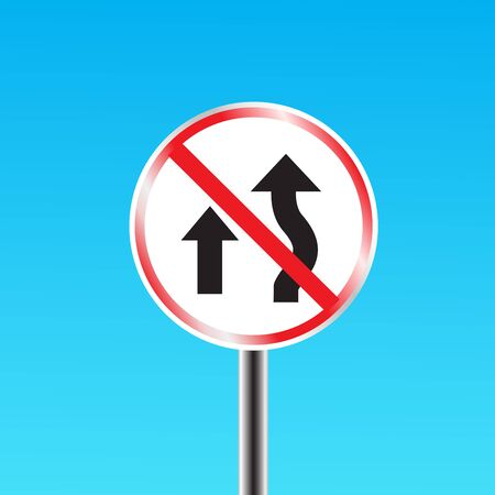 two way traffic: Do not overtake traffic sign. vector illustration