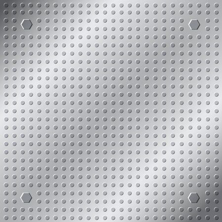 emboss: emboss texture pattern on metal background Illustration