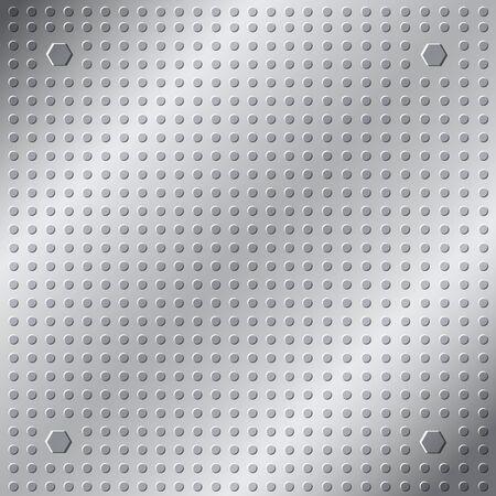 inox: emboss texture pattern on metal background Illustration