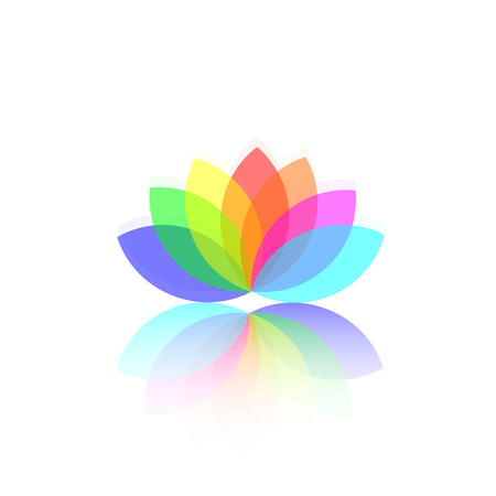 lotus leaf: Flower abstract logo template. vector illustration Illustration