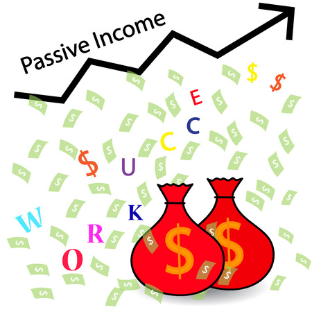 passive income: Passive Income and Financial Freedom Concept