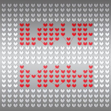 emboss: Typographical background for your love. Happy Mothers Day. Heart shaped emboss texture