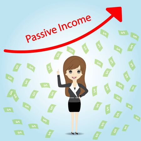 passive income: Passive Income and Financial Freedom Concep Illustration