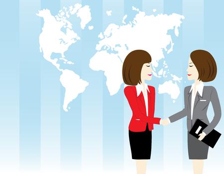 zakelijke vrouw: Business woman shaking hand