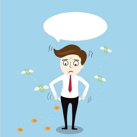 Businessman has no money