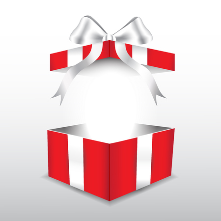 red gift box: red gift box with white ribbon Illustration