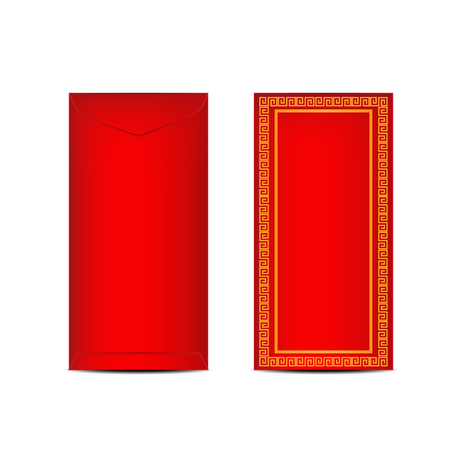 Chinese Ang Pao or Red Envelope for Chinese New Year Celebration Ilustração