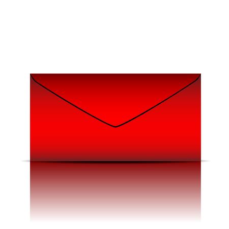 red envelope: Red envelope on white background