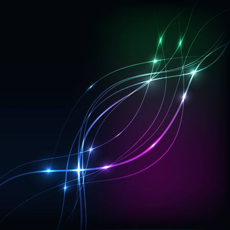 overlaying: Background with Overlaying wavy lines and hearts abstract on dark background