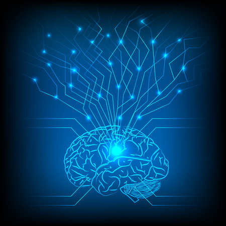 Abstract electric circuit brain,tecnology network Banque d'images