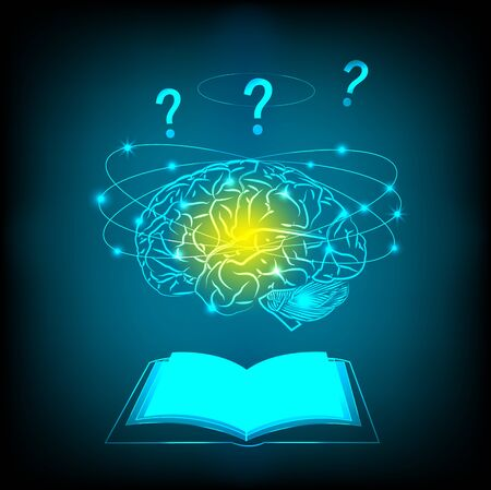 electric circuit: Abstract electric circuit brain thinking concept Stock Photo