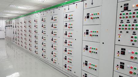 Centre de contrôle de moteur 400V Banque d'images