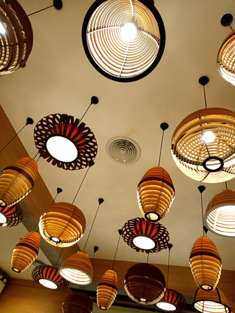 Modern ceiling lamps design Stock Photo