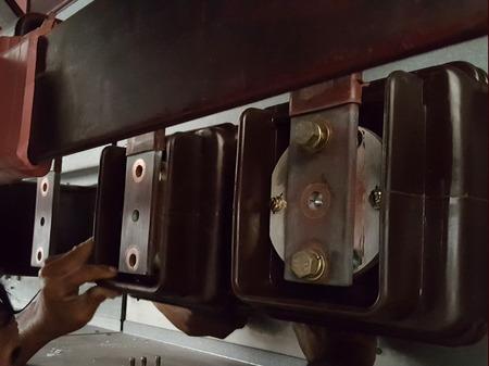 Circuit Breaker Spouts Replacement for MV Switchgear Stok Fotoğraf - 111363600