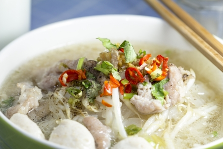 Thai style noodles with chili and need photo