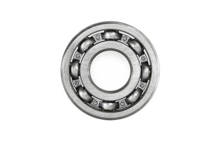 minutiae: a ball bearing, isolated over white