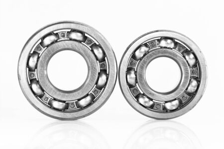 dialectic: ball bearings, isolated over white Stock Photo