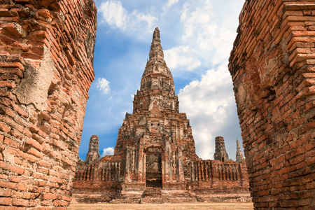 ayuthaya: Temple Wat Chaiwatthanaram at Ayutthaya Thailand