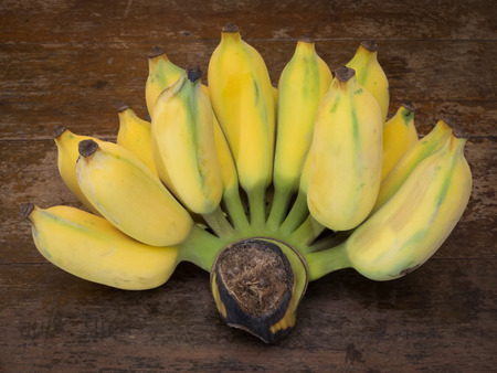 detai: close up on cultivated banana Stock Photo