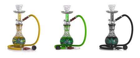ornate Syrian sheesha or hooka water pipe