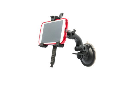 Universal Car Windshield Mount Suction Holder Bracket for smartphone GPS PDA isolated on a white background