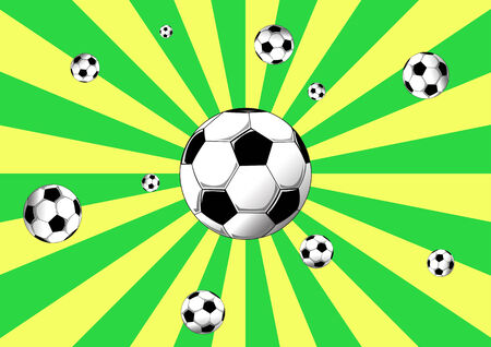 creative elegant football background with Brazil colors, Vector illustration illustration