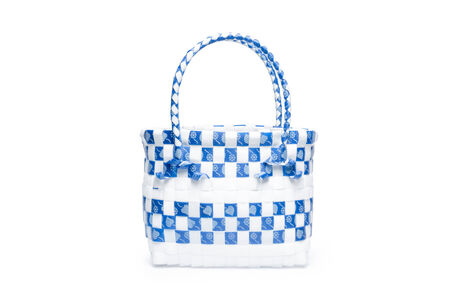 Recycle women handbag isolated on a white background Stock Photo - 29203304