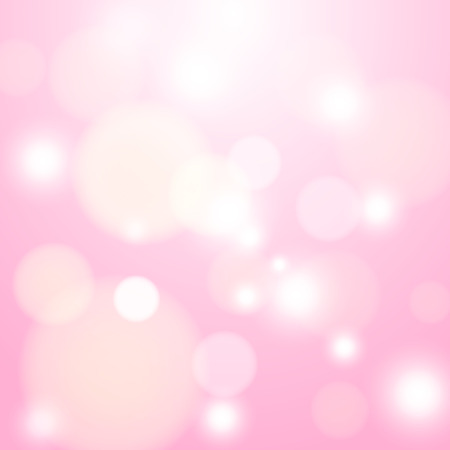 pink color  bokeh abstract light background. Vector illustration