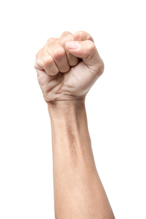 Male clenched fist, isolated on a white background Stok Fotoğraf - 34290833
