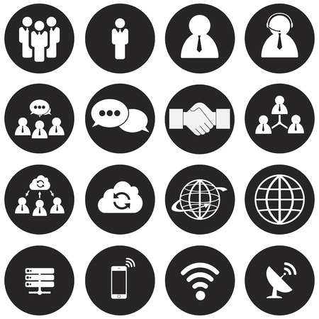 communication icons: network and communication icons - vector Illustration