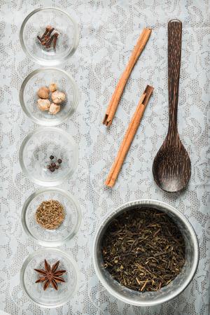fennel seeds: masala chai with spices. Cinnamon Stick, Thai Cardamom, Ginger, Clove, Star Anise, Black Peppercorns, Fennel Seeds, Black Tea