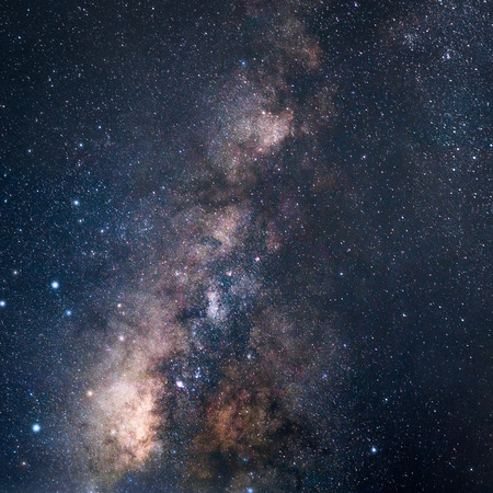 The Milky Way galaxy. From Pa Hin Ngam National Park. Chaiyaphum Thailand