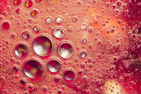 macro oil bubbles abstract light background Stock Photo
