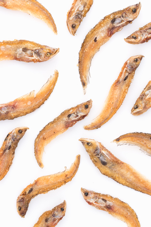 sheatfish: Thai food fried Sheatfish crispy delicious. isolate on white background Stock Photo