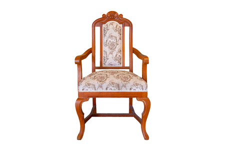 Luxury  Vintage chair isolate on White Background Stock Photo