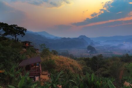Landscape Phu Lanka Forest Park in Phayao Province Thailand. Stock Photo