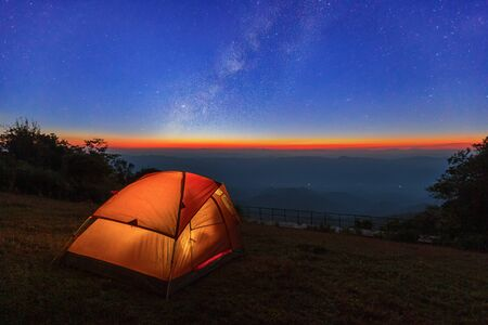 landscape camping on