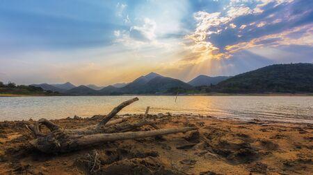 Sunset in Kaeng Krachan, Phetchaburi Province, thailand landscape photo.