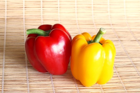 peppers: multicolored peppers