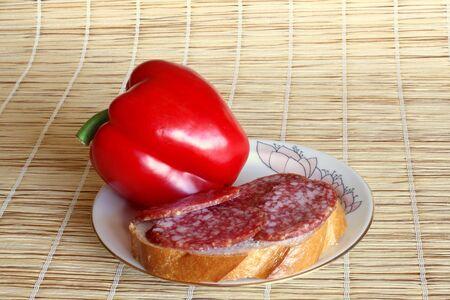 red peppers: red peppers with sausage