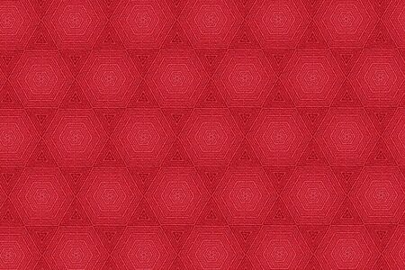 scarlet: Patterns on a red background.1