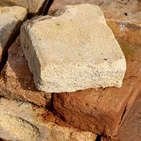 porous brick: Old brick. Stock Photo