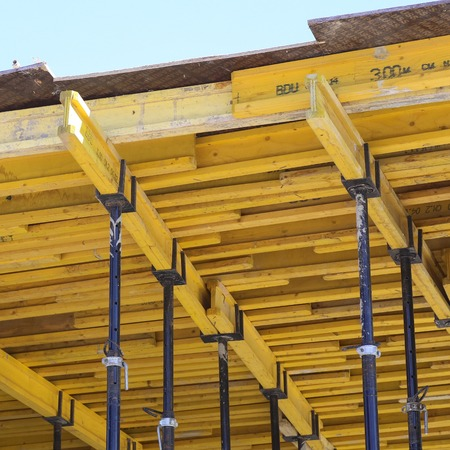 ceiling: Formwork for concrete ceiling.
