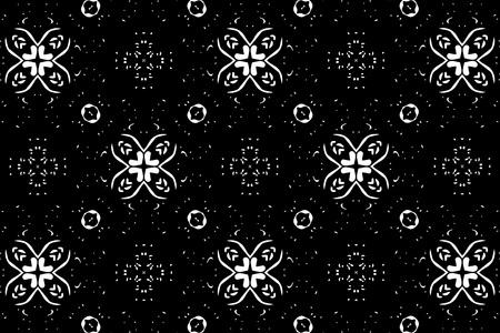 black and white: Black and white ornament.