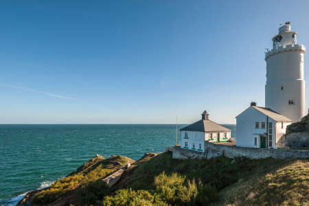 lighthouse keeper: A British lighthouse with a lighthouse keeper\
