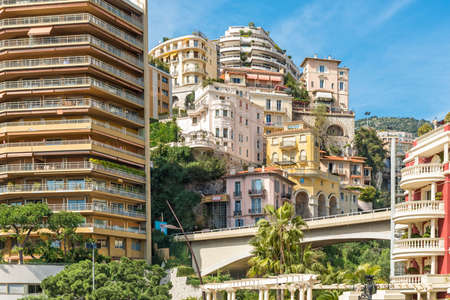 haven: Luxury apartments built up the side of the cliff in the tax haven of Monaco