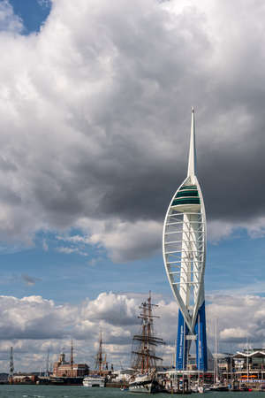 spinnaker: PORTSMOUTH, UK - JULY 25: The Emirates Spinnaker Tower at Gunwharf Quay shown on July 25, 2015 in Portsmouth, UK Editorial