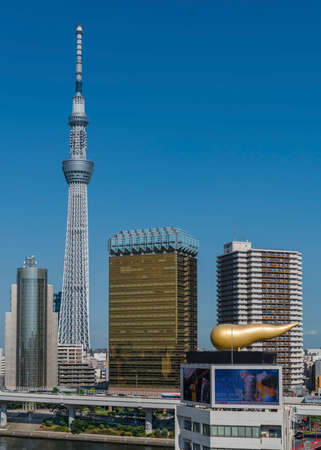 The Tokyo Skytree and Asahi Brewery Headquarters in Asakusa