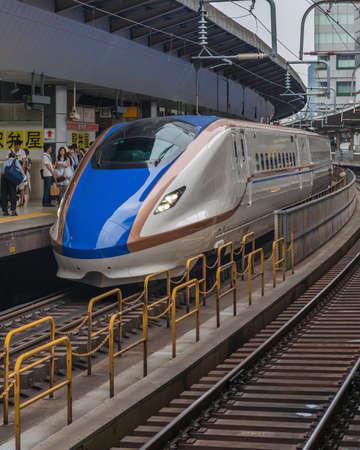 hokuriku: Series E7  Hokuriku line shinkansen bullet train Editorial